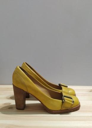 Кожаные туфли marc o'polo, оригинал. желтые туфли