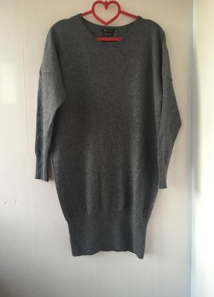 Стильное тёплое платье туника, шерсть, кашемир, massimo dutti