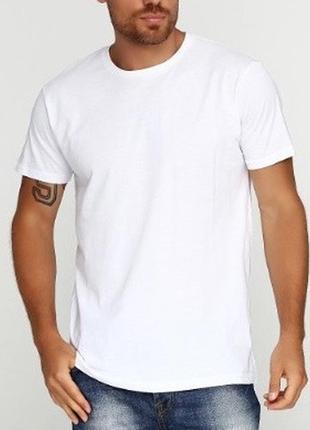 Белая мужская футболка primark однотонная