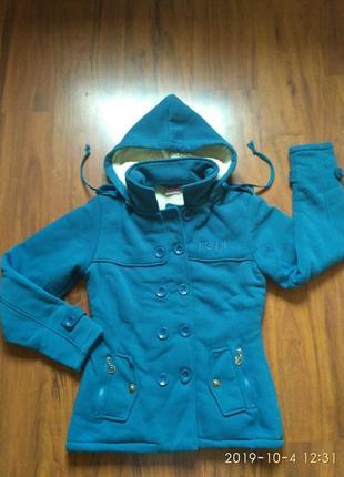 Супер курточка трикотажная на меху
