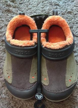 Кроксы кроссовки ботинки  замша+мех,  оригинал crocs,