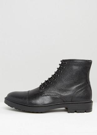 Чёрные кожаные ботинки asos
