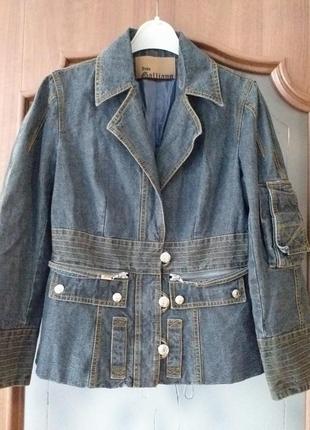 John galliano  (france)  джинсовая куртка-жакет
