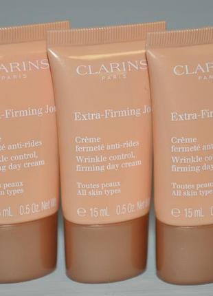 Дневной крем для лица clarins extra-firming day cream тревел формат в удобном тюбике 15мл