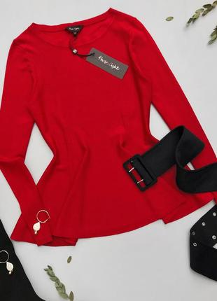 Phase eight, дорогой и качественный бренд, джемпер с имитацией баски