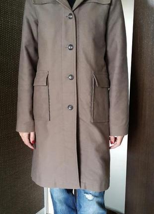 Пальто бойфренд в стиле милитари