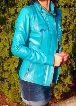 Кожаная куртка, натуральная кожа, s-m
