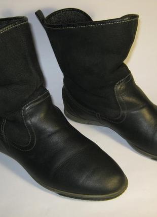 Удобные утепленные демисезонные  ботинки  сапоги кожа размер 36