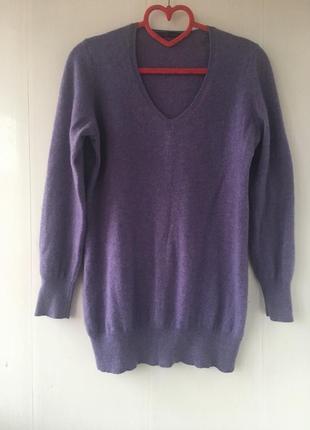Стильный кашемировый удлиненный свитер джемпер туника натуральный кашемир,
