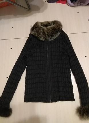 Курточка з хутром шиншили2 фото