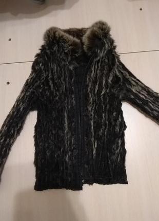 Курточка з хутром шиншили3 фото