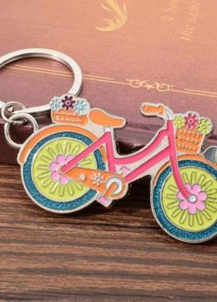 Новый классный большой брелок велосипед вело спорт винтаж для ключей