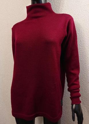 Теплый свитер гольф из нежной шерсти мериноса