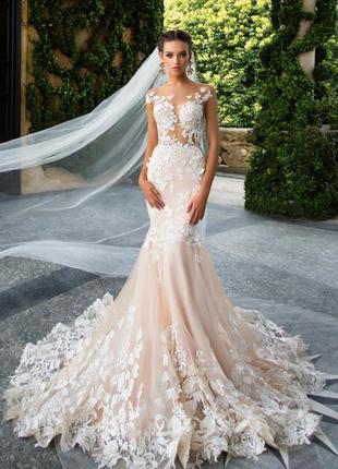 Невероятной красоты свадебное платье от milanova