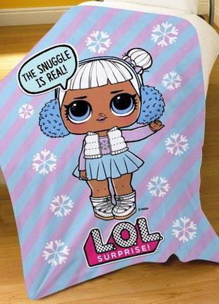 Детский флисовый плед куклы лол (lol) 100х150 для девочки