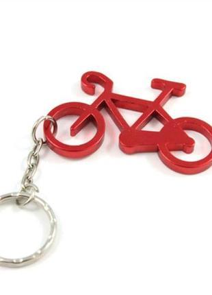 Новый прикольный большой брелок велосипед вело спорт для ключей с открывалкой для бутылок