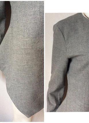 Zara made in spain стильный блузон ассиметричный total grey look5 фото