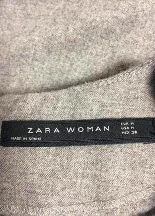 Zara made in spain стильный блузон ассиметричный total grey look3 фото