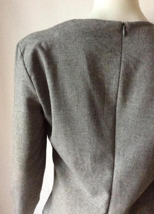 Zara made in spain стильный блузон ассиметричный total grey look7 фото