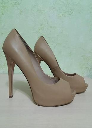 Шикарные туфли кожаные1 фото