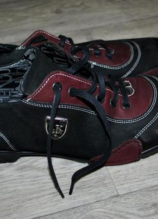 Продам туфли кроссовки мужские кожаные бренд marco brothers чёрные