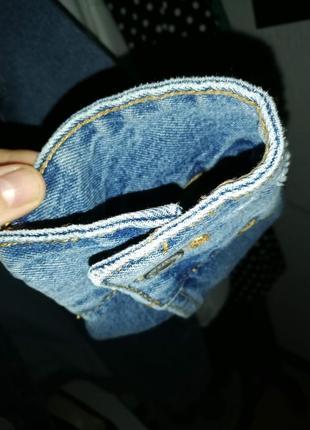 Куртка oversized длинная деним синяя9 фото