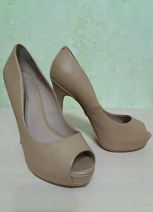 Шикарные туфли кожаные5 фото