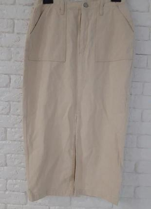 Джинсовая юбка миди missguided, размер 84 фото