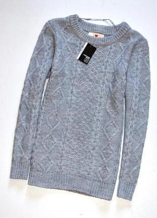 Atmosphere. новый серый  свитер,очень красивая вязка,в составе шерсть! хл.14.42
