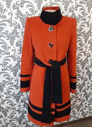 Обалденное оранжевое пальто, шерсть+кашемир❤🔥