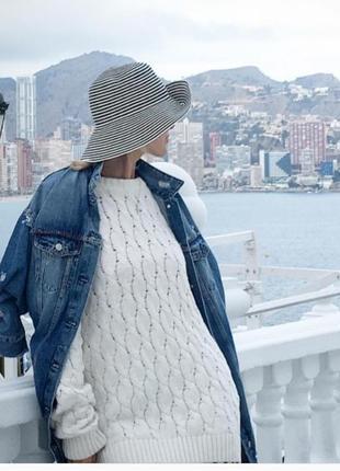 Куртка oversized длинная деним синяя4 фото