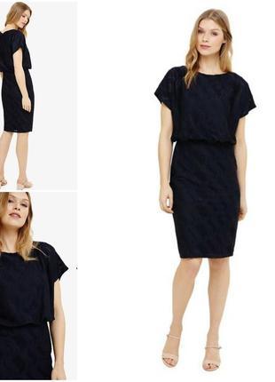 Эксклюзивное синее платье миди  phase eight