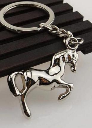 Новый боевой конь 3d кулон брелок для ключей лошадь, для любителей верховой езды