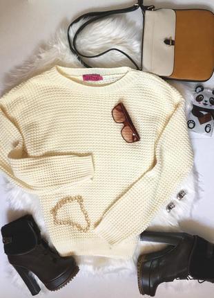 Молочный свитер оверсайз от boohoo1 фото