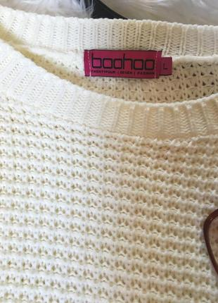 Молочный свитер оверсайз от boohoo2 фото