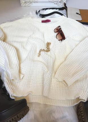 Молочный свитер оверсайз от boohoo3 фото