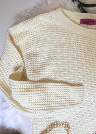 Молочный свитер оверсайз от boohoo4 фото
