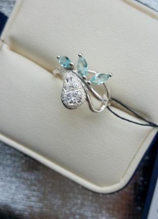 Нежное кольцо серебро 925 пробы2
