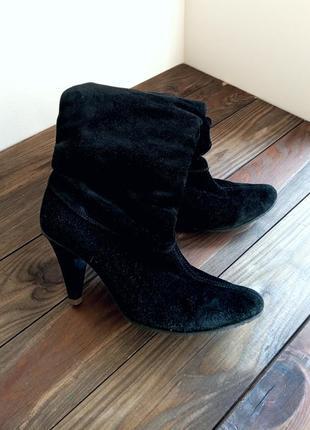 Расспродажа!! натуральные замшевые ботильоны ботинки сапоги женские1 фото
