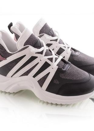 Спортивные кроссовки с люрексом1 фото