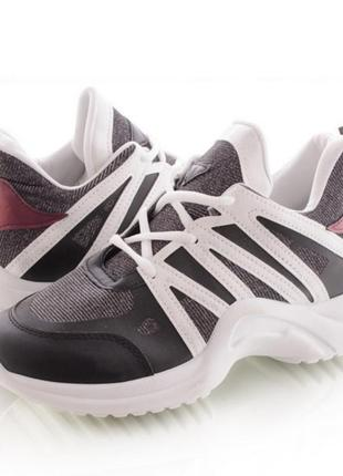 Спортивные кроссовки с люрексом4 фото