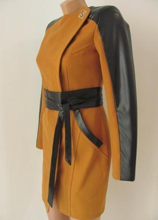 Пальто кашемировое, приталенного силуэта, без ворота, два кармана, 5269м6 фото