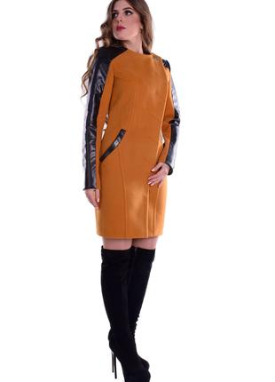 Пальто кашемировое, приталенного силуэта, без ворота, два кармана, 5269м1 фото