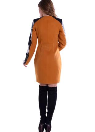 Пальто кашемировое, приталенного силуэта, без ворота, два кармана, 5269м2 фото