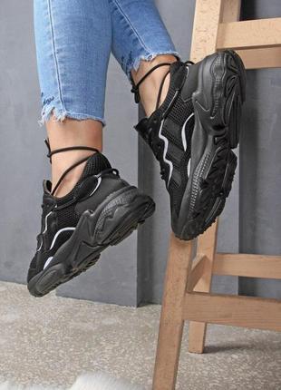 Прекрасные спортивные кроссовки adidas в черном цвете (весна-лето-осень)😍1 фото