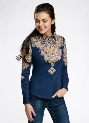 Рубашка(блуза) oodji c этническим принтом