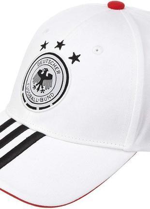 Кепка біла бейсболка белая хлопковая адидас cap adidas deutschland dfb 3 stripe x16276