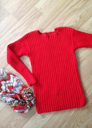 Теплий свитер в рубчик ручна робота