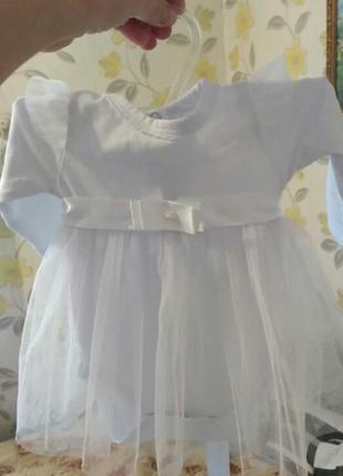 Нежное платье бодик для малышки