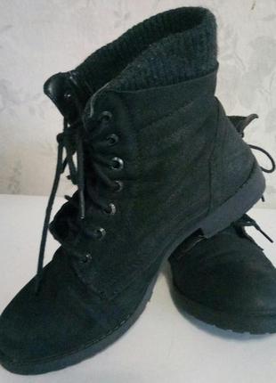 Ботинки из нат.кожи набука индия